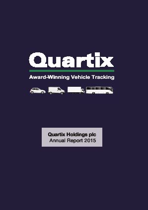 Quartix Holdings Plc annual report 2015