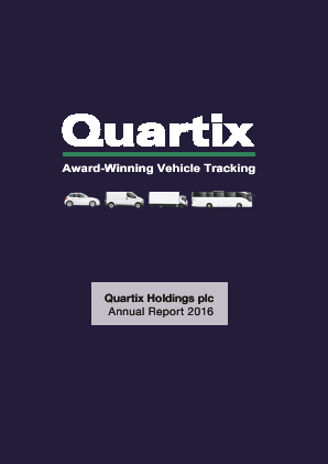 Quartix Holdings Plc annual report 2016