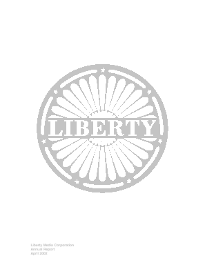 Liberty Interactive Corporation annual report 2001