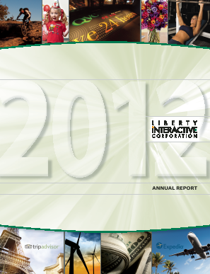 Liberty Interactive Corporation annual report 2012