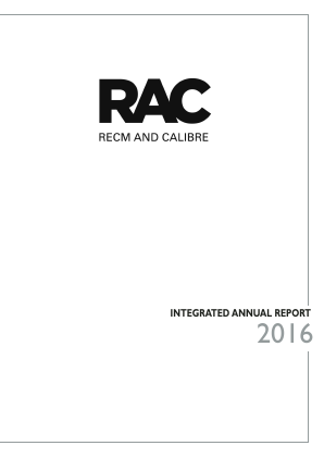 RECM And Calibre annual report 2016