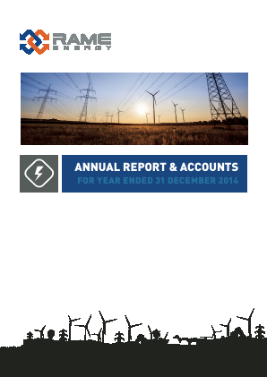 Rame Energy Plc annual report 2014