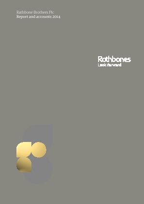 Rathbone Brothers annual report 2014