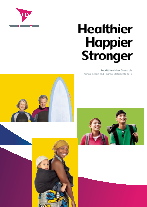 Reckitt Benckiser Group Plc annual report 2012