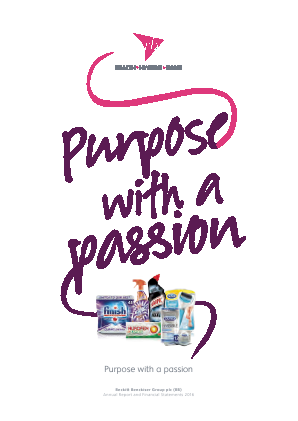 Reckitt Benckiser Group Plc annual report 2016