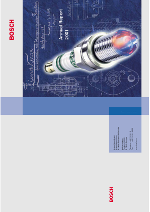 Robert Bosch annual report 2001
