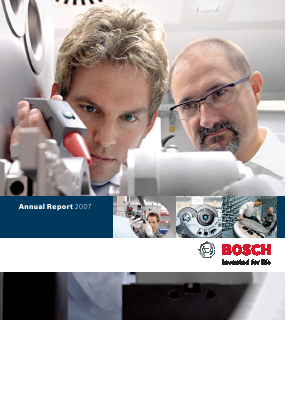 Robert Bosch annual report 2007