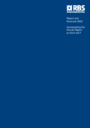Royal Bank Of Scotland Group Plc annual report 2002