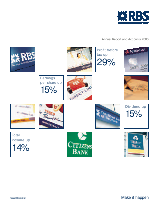 Royal Bank Of Scotland Group Plc annual report 2003