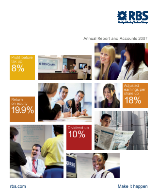 Royal Bank Of Scotland Group Plc annual report 2007