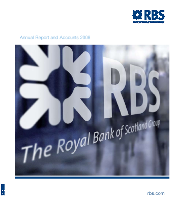 Royal Bank Of Scotland Group Plc annual report 2008