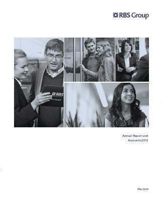 Royal Bank Of Scotland Group Plc annual report 2012