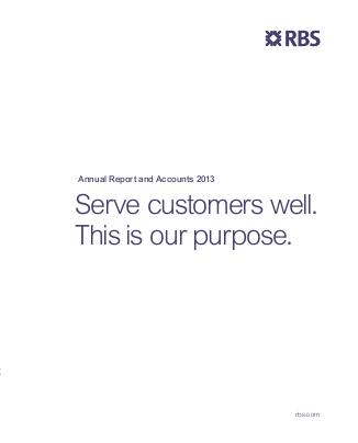Royal Bank Of Scotland Group Plc annual report 2013