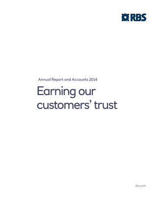 Royal Bank Of Scotland Group Plc annual report 2014
