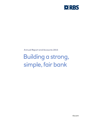 Royal Bank Of Scotland Group Plc annual report 2015