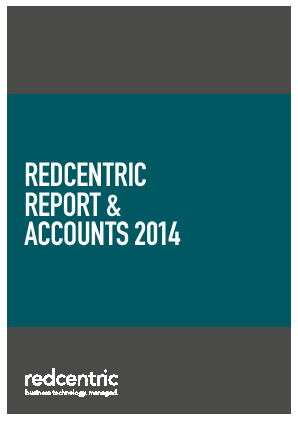 Redcentric Plc annual report 2014