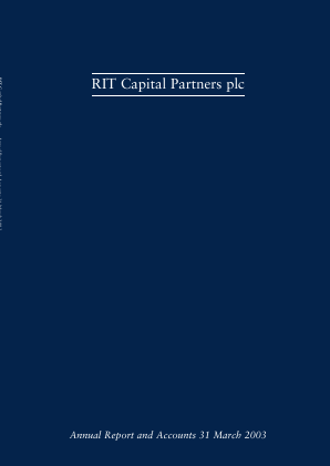 RIT Capital Partners annual report 2003