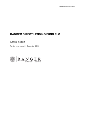Ranger Direct Lending Fund Plc annual report 2016