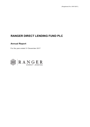 Ranger Direct Lending Fund Plc annual report 2017