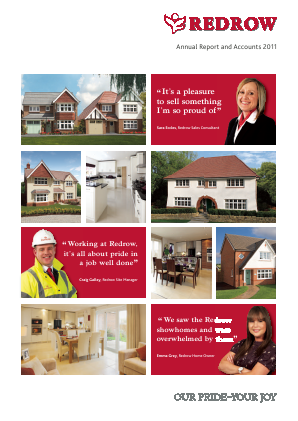 Redrow annual report 2011