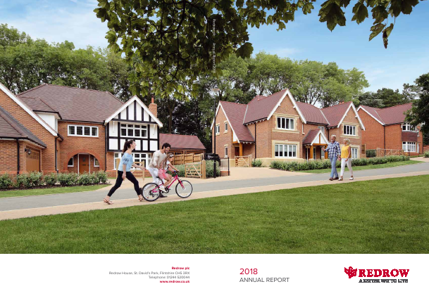 Redrow annual report 2018