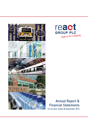 React Group Plc annual report 2016