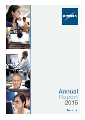 Record Plc annual report 2015