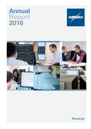 Record Plc annual report 2016