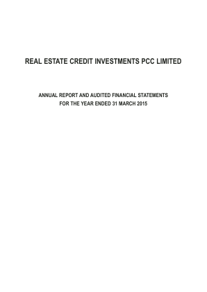 Real Estate Credit Investments PCC annual report 2015