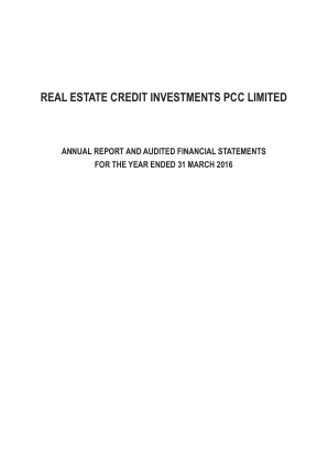 Real Estate Credit Investments PCC annual report 2016
