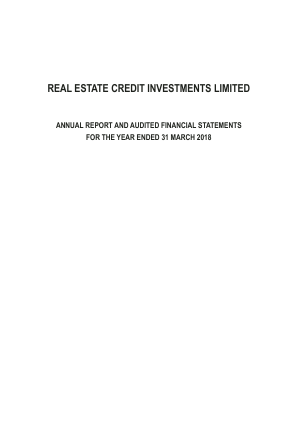 Real Estate Credit Investments PCC annual report 2018