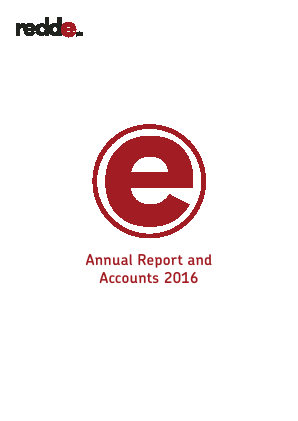 Redde Plc annual report 2016