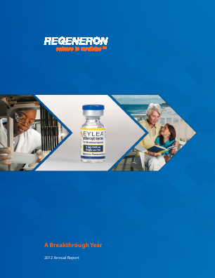 Regeneron Pharmaceuticals, Inc. annual report 2012