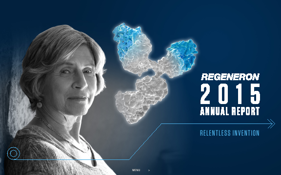 Regeneron Pharmaceuticals, Inc. annual report 2015
