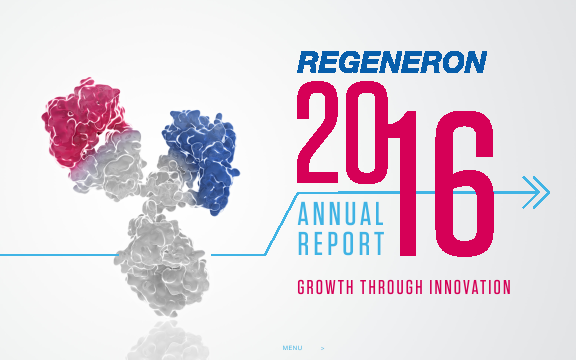 Regeneron Pharmaceuticals, Inc. annual report 2016