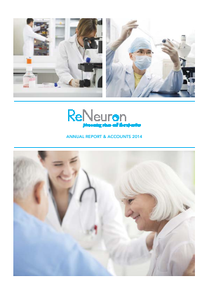 Reneuron Group annual report 2014