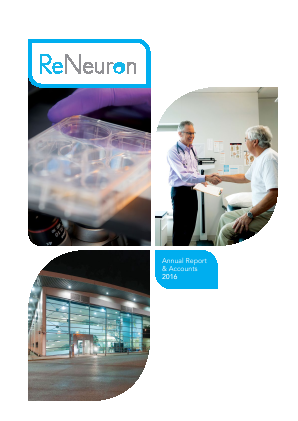 Reneuron Group annual report 2016