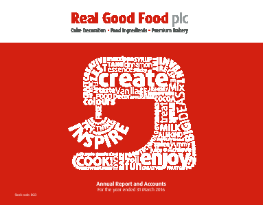 Real Good Food Plc annual report 2016