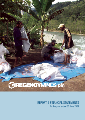 Regency Mines annual report 2009