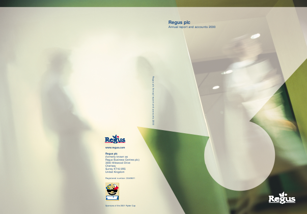 International Workplace Group - IWG (previously Regus Plc) annual report 2000
