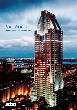 International Workplace Group - IWG (previously Regus Plc) annual report 2003