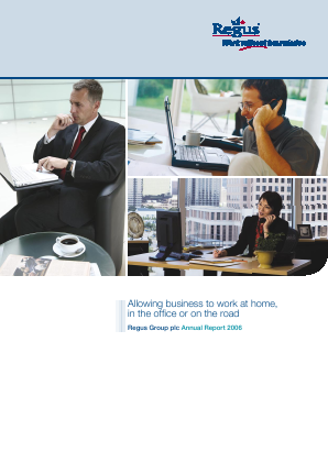 International Workplace Group - IWG (previously Regus Plc) annual report 2006