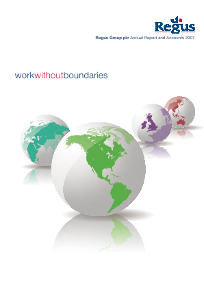 International Workplace Group - IWG (previously Regus Plc) annual report 2007