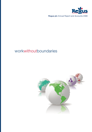 International Workplace Group - IWG (previously Regus Plc) annual report 2008