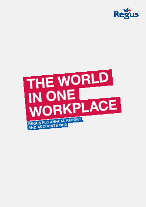 International Workplace Group - IWG (previously Regus Plc) annual report 2013