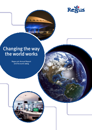 International Workplace Group - IWG (previously Regus Plc) annual report 2014
