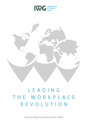 International Workplace Group - IWG (previously Regus Plc) annual report 2016