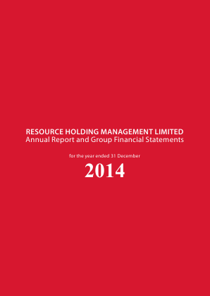 Resource Holdings Management Ld annual report 2014