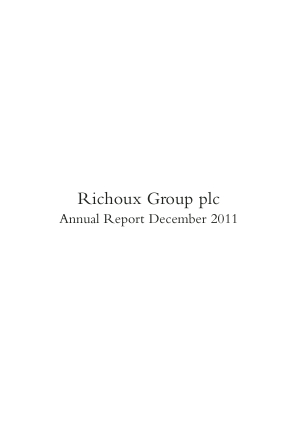 Richoux Group Plc annual report 2011