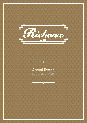 Richoux Group Plc annual report 2016